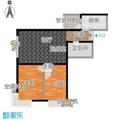 米罗公元・方丹苑Ⅱ91.85㎡2号楼G户型