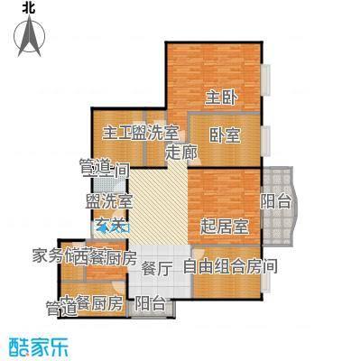 长岛港湾170.69㎡三室二厅二卫户型
