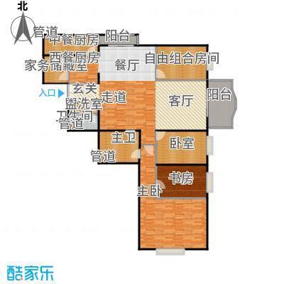 长岛港湾181.32㎡四室二厅二卫户型