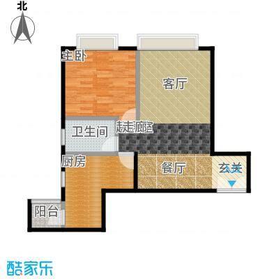 宝星・华庭64.24㎡10单元F一室户型10室