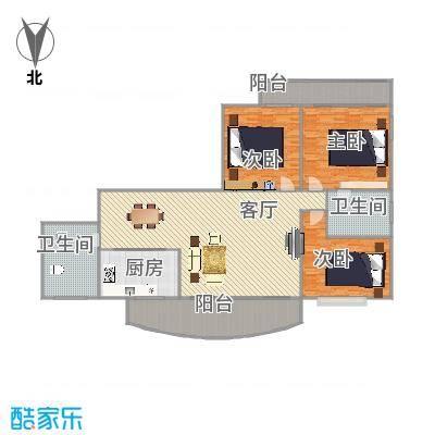 望江东园120方户型