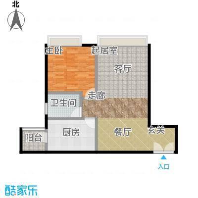 宝星・华庭65.72㎡9、10单元C一室户型10室
