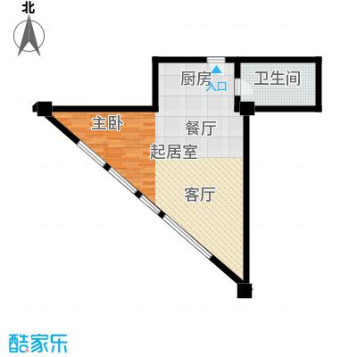 大悦公寓92.17㎡S10大一居户型10室
