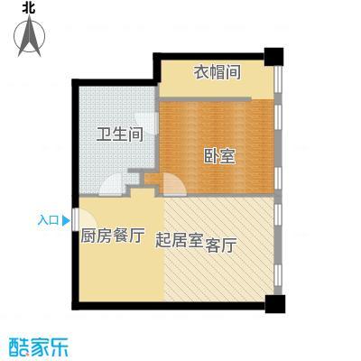 大悦公寓88.28㎡S06户型1室2厅1卫