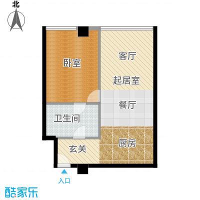 大悦公寓88.11㎡S02户型10室