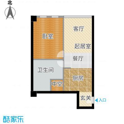 大悦公寓92.09㎡S01户型1卫