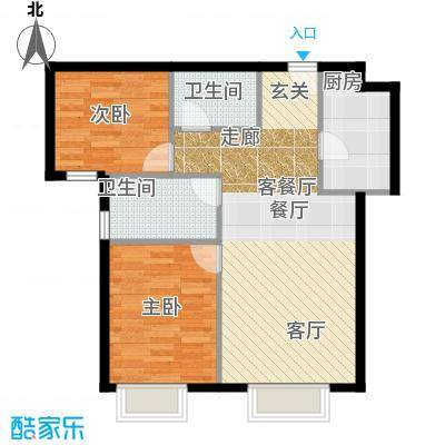 北京城建・筑华年91.00㎡7号楼02、03户型2室2厅1卫