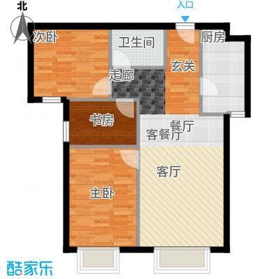 北京城建・筑华年91.00㎡5号楼C1-2、C2-2户型10室