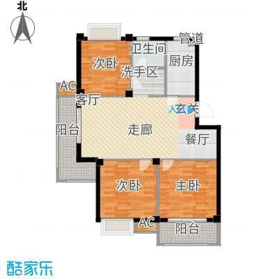 G三室一厅一卫107平米户型
