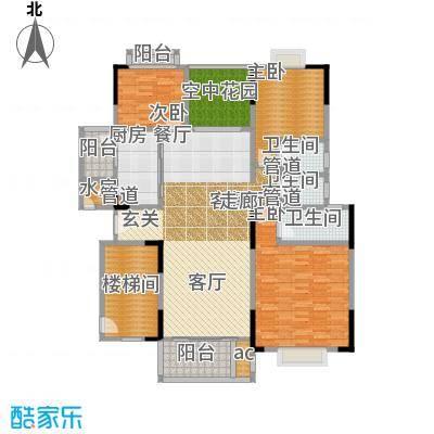 星湖尚景苑135.31㎡2号楼05户型3室2厅3卫