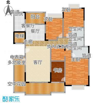 星湖尚景苑193.18㎡2号楼02户型4室2厅3卫