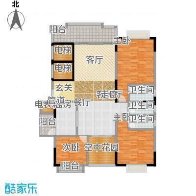 星湖尚景苑139.80㎡4号楼01户型3室2厅3卫