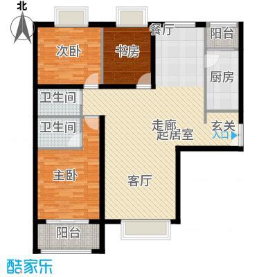 禧福汇国际社区147.00㎡2-3单元03三室户型10室