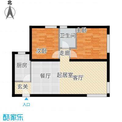 北纬40度景观公寓G1两室两厅一卫户型