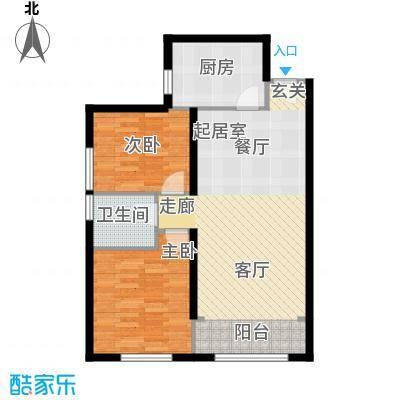 北纬40度景观公寓F5(G5)两室两厅一卫户型