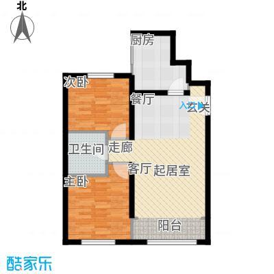 北纬40度景观公寓B5两室两厅一卫户型
