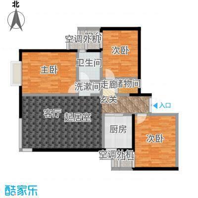 米罗公元・方丹苑Ⅱ110.30㎡三室一厅一卫户型