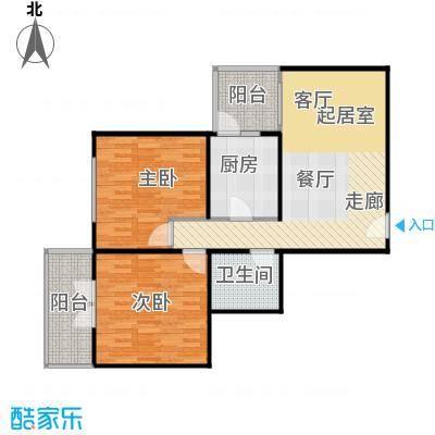 甘露晴苑83.00㎡二室一厅一卫户型