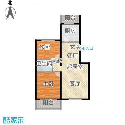 鑫兆丽园(亚北新区)103.11㎡2室2厅1卫1厨户型