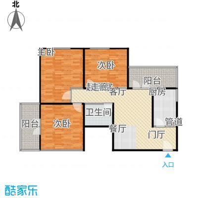 甘露晴苑104.00㎡三室一厅一卫户型