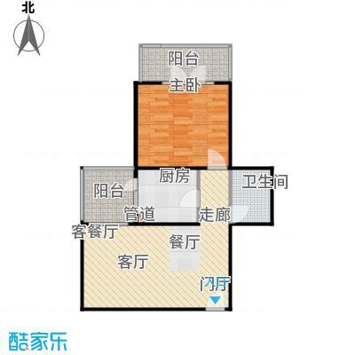 甘露晴苑66.94㎡一室一厅户型