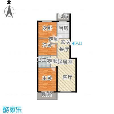 鑫兆丽园(亚北新区)119.00㎡三室一厅户型