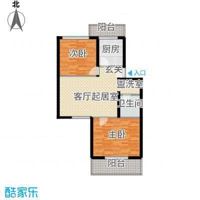 鑫兆丽园(亚北新区)85.35㎡2室1厅1卫1厨户型