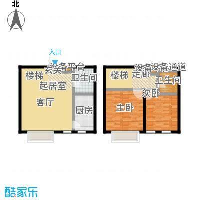美树日记91.02㎡B3-4 二室二厅二卫户型2室2厅2卫