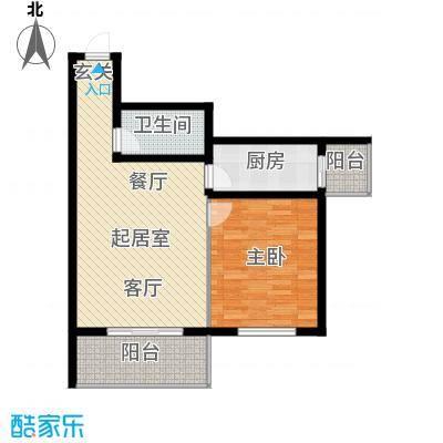 鑫兆丽园(亚北新区)73.78㎡1室1厅1卫1厨户型