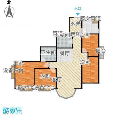 圣馨大地家园153.49㎡四居室户型
