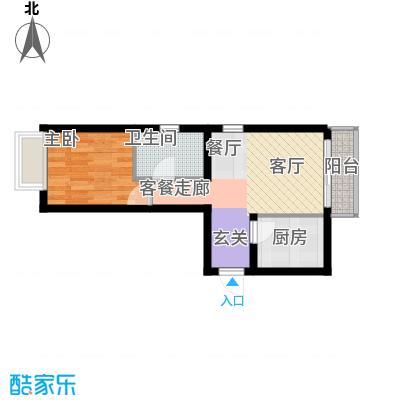 金融街・融汇55.00㎡H户型1室1厅1卫