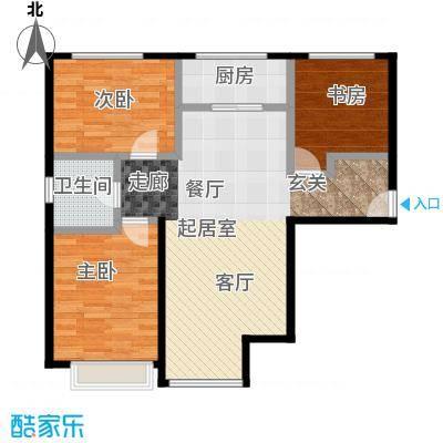 金第万科・朗润园105.00㎡C11地块户型3室2厅1卫