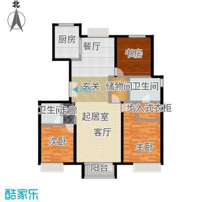 金第万科・朗润园155.00㎡户型3室2厅2卫