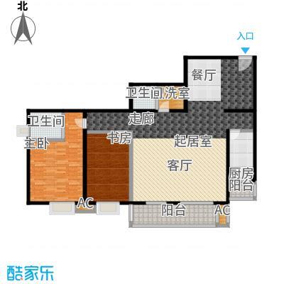 双花园小区145.09㎡2室2厅2卫1厨户型