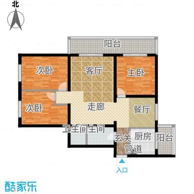 金祥嘉园128.98㎡三室二厅一卫户型