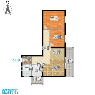 金祥嘉园101.29㎡2室2厅1卫户型