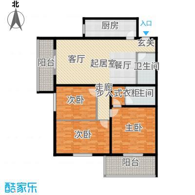 吉利家园147.21㎡三室二厅二卫户型
