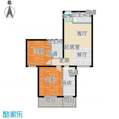 吉利家园107.86㎡二室二厅二卫户型