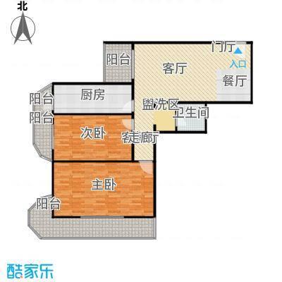 亚运豪庭122.28㎡二室二厅一卫户型