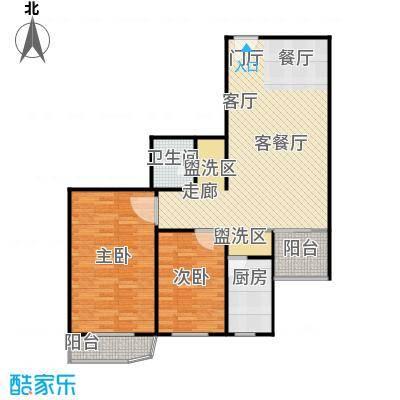 亚运豪庭96.90㎡二室二厅一卫户型