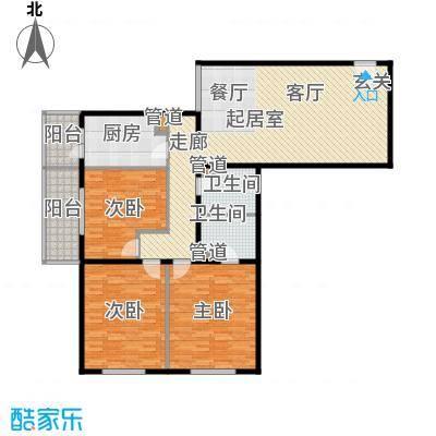 吉利家园139.02㎡三室二厅二卫户型
