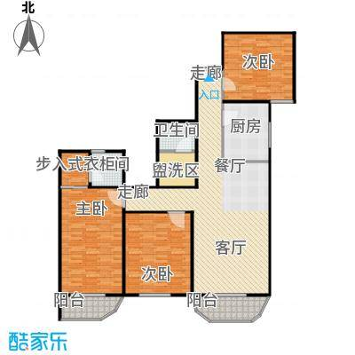 亚运豪庭136.89㎡三室二厅二卫户型