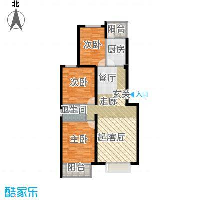 书海文园(骏城二期)120.27㎡3室2厅1卫1厨H户型