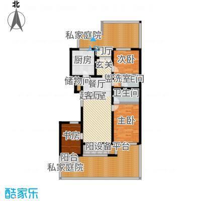 万科青青家园127.91㎡A1三室二厅户型