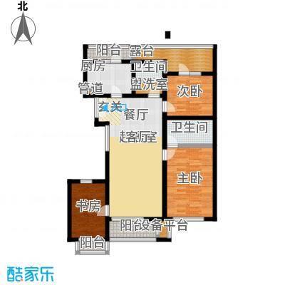 万科青青家园122.06㎡A2三室二厅户型