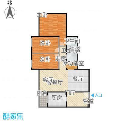 慧谷时空114.04㎡三居室户型