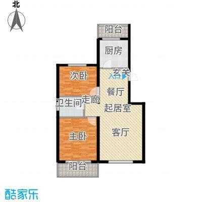鑫兆丽园(亚北新区)103.98㎡2室2厅1卫1厨户型