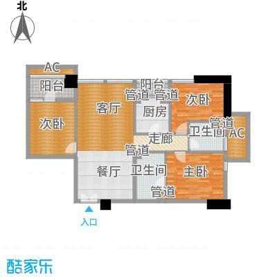 北京香颂D户型二室二厅二卫户型
