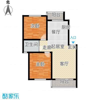 华茂依山君庭3号楼两室两厅一卫88平方米户型2室2厅1卫