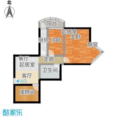 新中环公寓两室一厅一卫户型